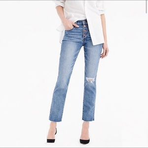 J. CREW Vintage Straight Jean Button Fly High Rise